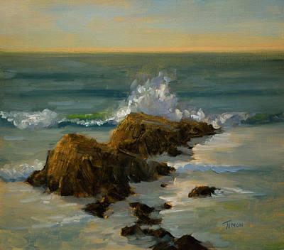 Mavricks Painting - Smashing by Timon Sloane