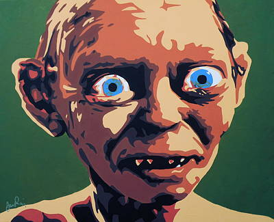 Lotr Painting - Smeagol by Ian  King