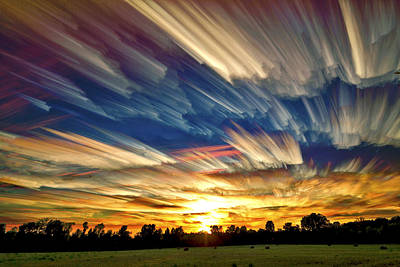 Line Movement Wall Art - Photograph - Smeared Sky Sunset by Matt Molloy