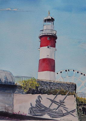 Painting - Smeaton's Tower by Betty-Anne McDonald