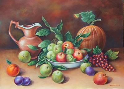 Terracotta Room Painting - Smell Of Apples by Elvira Kravenkova