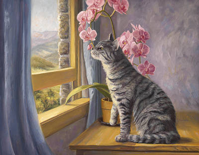 Smelling The Flowers Original by Lucie Bilodeau