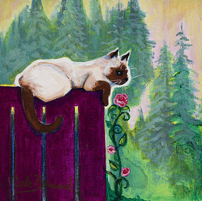 Smelling The Rose Art Print