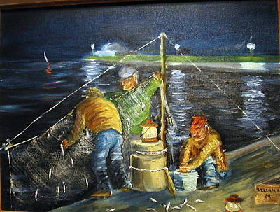 Netting Painting - Smelt Fishing by Lawrence Welegala