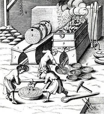 Smelting Copper Art Print