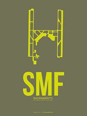 Travel Digital Art - Smf Sacramento Airport Poster 3 by Naxart Studio