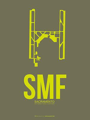 Smf Sacramento Airport Poster 3 Art Print