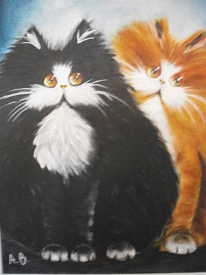 Moggy Painting - Smile by Alan Brunt