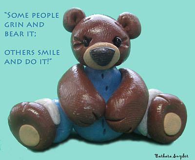 Bear Digital Art - Smile And Do It by Barbara Snyder