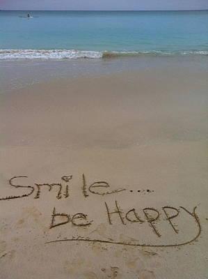 Smile Be Happy Art Print