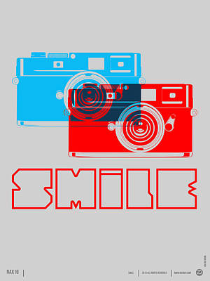 Smile Camera Poster Art Print by Naxart Studio