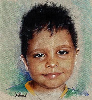 Smile - Colored Pencils Portrait Drawing Art Print by Daliana Pacuraru