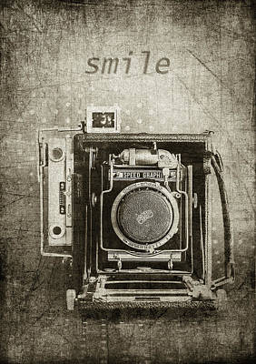 Smile For The Camera - Sepia Art Print