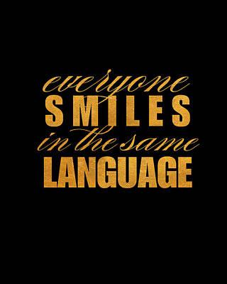 Language Digital Art - Smile Imagine I by South Social Graphics