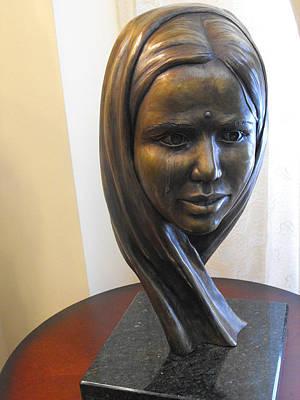 Florence Biennale Sculpture - Smile Through Tears by JA Fligel