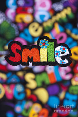 Embroidered Photograph - Smile by Tim Gainey