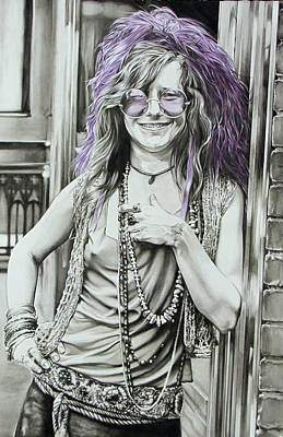 Janis Joplin Drawing - Smiles by Kieran Hassey