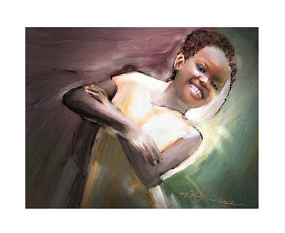 Haitian Painting - Smiles Rule The Day by Bob Salo