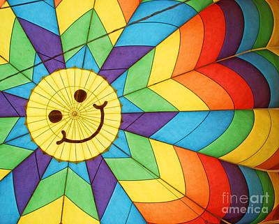 Smiley Face Balloon Art Print