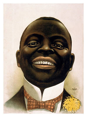 Person Drawing - Smiling African American Circa 1900 by Aged Pixel