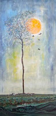 Soaring Painting - Smiling At Days End by Sara Credito