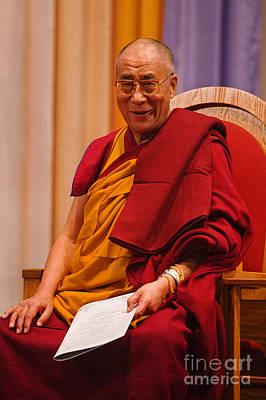 Tibetan Buddhism Photograph - Smiling Dalai Lama by Craig Lovell