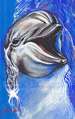 Johnkeaton Painting - Smiling Dolphin by John Keaton