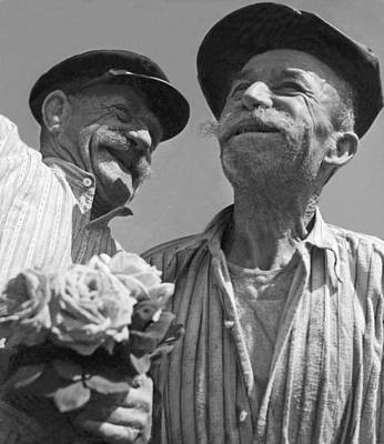 Smiling French Peasant Men Art Print