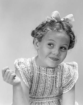 Impish Photograph - Smiling Girl, C.1940s by H. Armstrong Roberts/ClassicStock