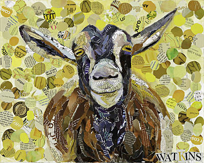 Smiling Goat Original by Beth Watkins