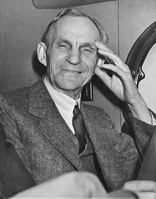 Gray Hair Photograph - Smiling Henry Ford by Underwood Archives