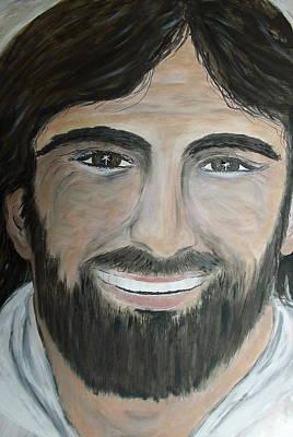 Smiling Jesus Art Print by Tammy Rogers
