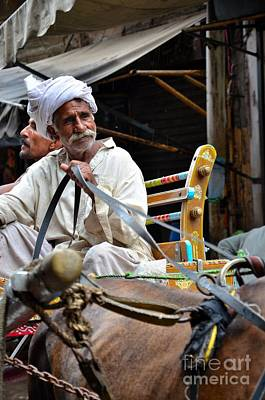 Photograph - Smiling Man Drives Horse Carriage In Lahore Pakistan by Imran Ahmed