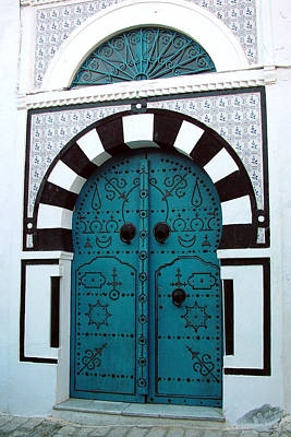 Sidi Bou Said Photograph - Smiling Moon Door by Donna Corless