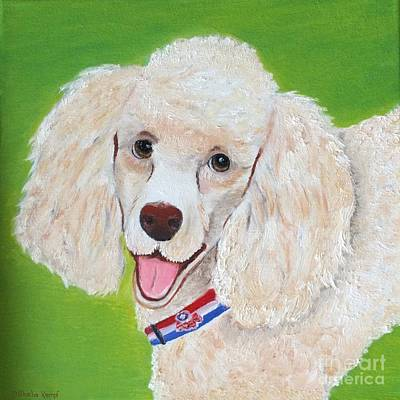 Painting - Smiling Poodle - Pet Portrait by Shelia Kempf