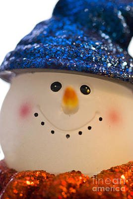 Smiling Snowman Art Print by Birgit Tyrrell