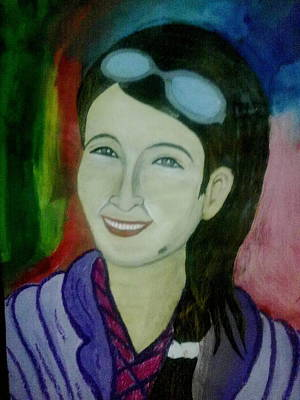 Syeda Ishrat Painting - Smiling by Syeda Ishrat