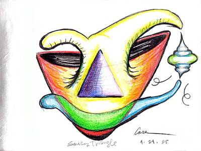Feile Drawing - Smiling  Triangle by Feile Case