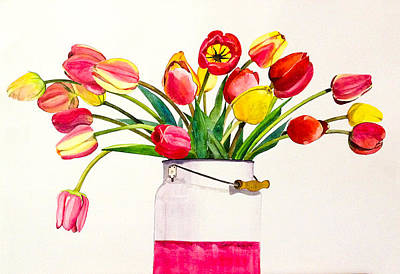 Painting - Smiling Tulips by Sonali Sengupta