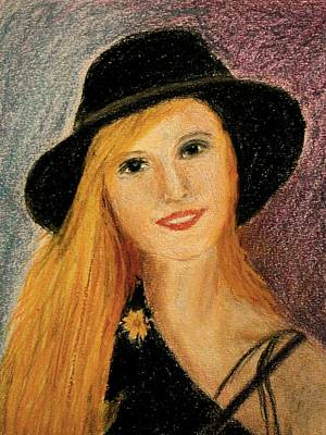 Smiling Young Lady  Art Print