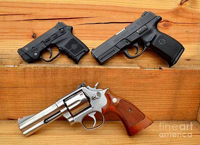 Photograph - Smith And Wesson Generations by Derry Murphy