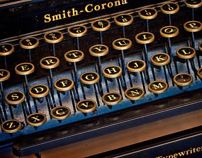 Smith Corona Vintage Typewriter Art Print by David and Carol Kelly