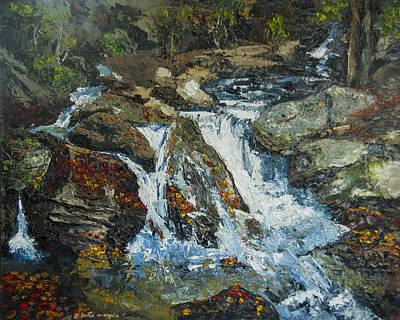 Peter Muzyka Wall Art - Painting - Smith Creek In Autumn by Peter Muzyka