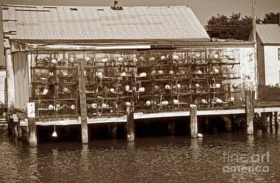 Crabbing Photograph - Smith Island Pots by Skip Willits