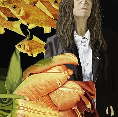 Gold Fish Painting - Smith by Marcella Lassen
