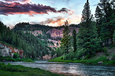 Smith River At Dusk Art Print