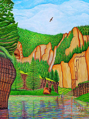 Art Print featuring the painting Smith River Montana by Joseph J Stevens