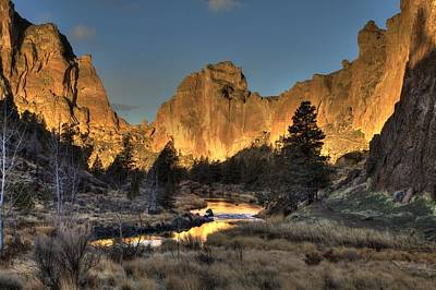 Photograph - Smith Rock At Sunrise by Coby Cooper