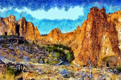 Digital Art - Smith Rock State Park by Kaylee Mason