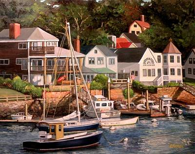 Smiths Cove Gloucester Art Print by Eileen Patten Oliver